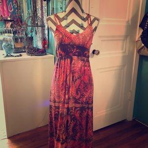 Kenar Long spaghetti strap summer dress